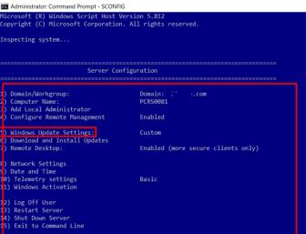 Windows Server 2016 Update settings | Microsoft System Admins